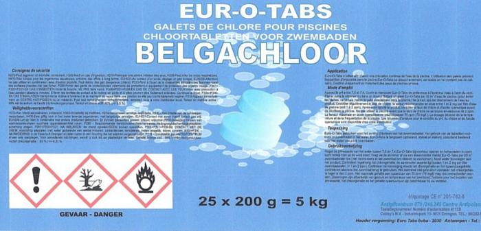 Chloortabletten Belgachloor